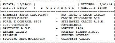 Calendario Promozione Girone A.Promozione Girone D Calendario Completo Calciocamuno It